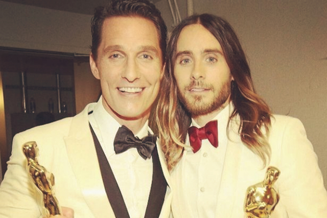 Funniest celebrity moments at 2014 Oscars night  Funniest celebrity moments at 2014 Oscar's night Funniest celebrity moments at 2014 Oscars night Matthew McConaughey and Jared Leto