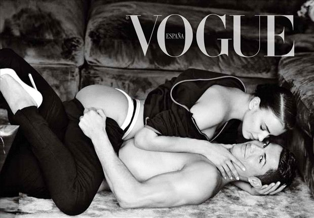 Cristiano Ronaldo and Irina Shayk Vogue Cover Spain 2014  Celebrity Vogue Covers celebrity vogue covers cristiano ronaldo irina shayk 2