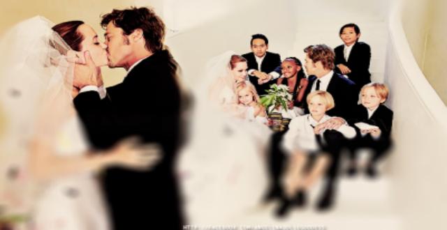 Angelina Jolie and Brad Pitt Weeding Vanity Fair Cver (1)