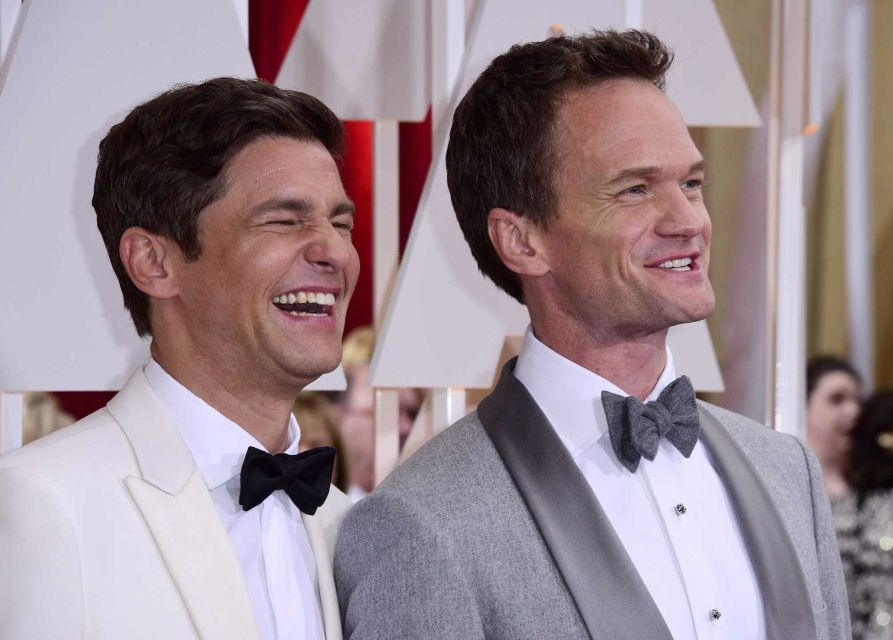 Neil Patrick Harris and husband David Burtka  Oscars 2015: Celebrity Couples Neil Patrick Harris and husband David Burtka