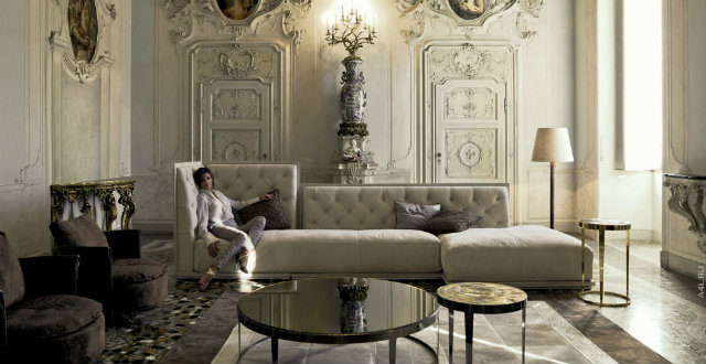 Celebrity Homes: How to have a celebrity style decoration by Milan Design Week 2015 milan Discover The Celebrity Interior Designers of Milan Inspirational brands at iSaloni 2014 Architonic full guide into HALL 5 Napoleon divani by Longhi