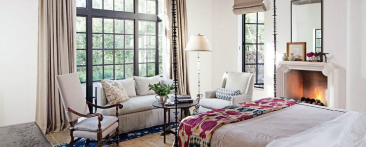 Celebrity Homes with Cozy Bedroom Fireplaces