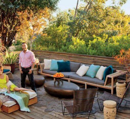 john legend and chrissy teigen John Legend and Chrissy Teigen's 1960s Hollywood Hills Home Celebrity Couples John Legend and Chrissy Teigens 1960s Hollywood Hills Home 12 450x410