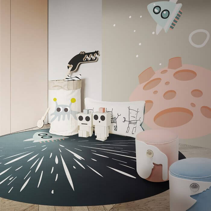 Luxury Kids Bedroom Ideas: Space Collection Rugs luxury kids bedroom Luxury Kids Bedroom Ideas: Space Collection Rugs AMBIENTE CIRCU RUG 5 2 1