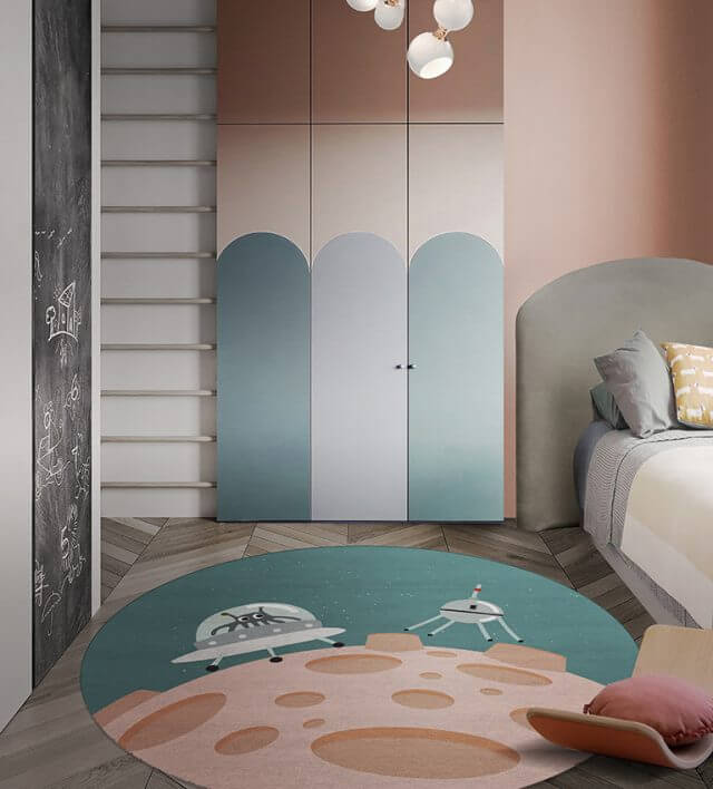Luxury Kids Bedroom Ideas: Space Collection Rugs luxury kids bedroom Luxury Kids Bedroom Ideas: Space Collection Rugs hello stranger round rug circu magical furniture 2 640x708 1