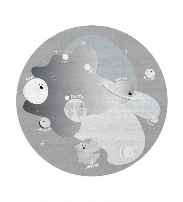 Luxury Kids Bedroom Ideas: Space Collection Rugs luxury kids bedroom Luxury Kids Bedroom Ideas: Space Collection Rugs planet party round rug circu magical furniture 1