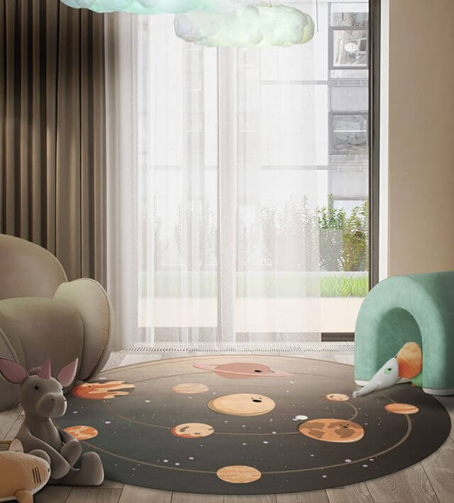 Luxury Kids Bedroom Ideas: Space Collection Rugs luxury kids bedroom Luxury Kids Bedroom Ideas: Space Collection Rugs solar system rug circu magical furniture 2 640x708 1