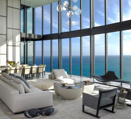 interior designers in miami Get to Know the Best Interior Designers in Miami Pentouse Dining Michael Wolk Design 450x410