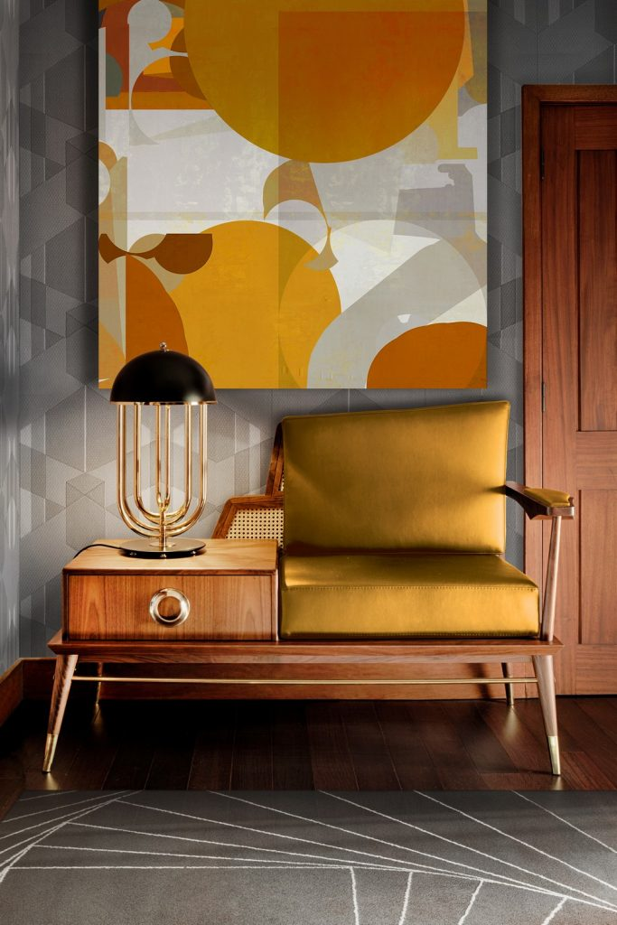 mid-century modern design Mid-Century Modern Design Inspirations Room by Room Image 1 Grant Loveseat in Trendy Yellow scaled