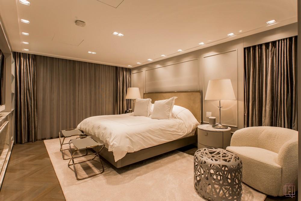electrix studio Electrix Studio's Luxury Penthouse Project Image 4 Master bedroom design in trendy neutrals