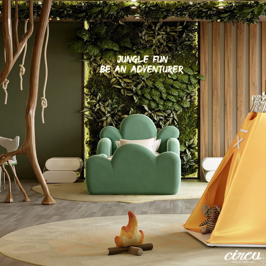kids room Luxury Project Inspired by Nature: Jungle Themed Kids Room Luxury Project Inspired by Nature Jungle Themed Kids Room 5