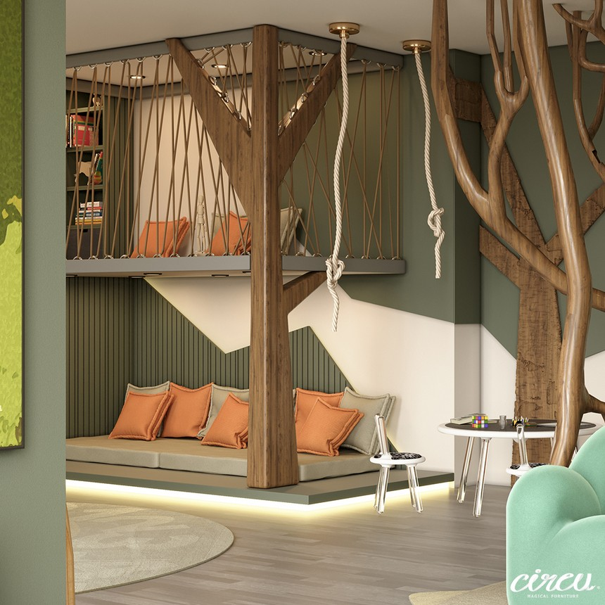 kids room Luxury Project Inspired by Nature: Jungle Themed Kids Room Luxury Project Inspired by Nature Jungle Themed Kids Room 7