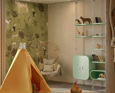kids room Luxury Project Inspired by Nature: Jungle Themed Kids Room Luxury Project Inspired by Nature Jungle Themed Kids Room 8 371x300
