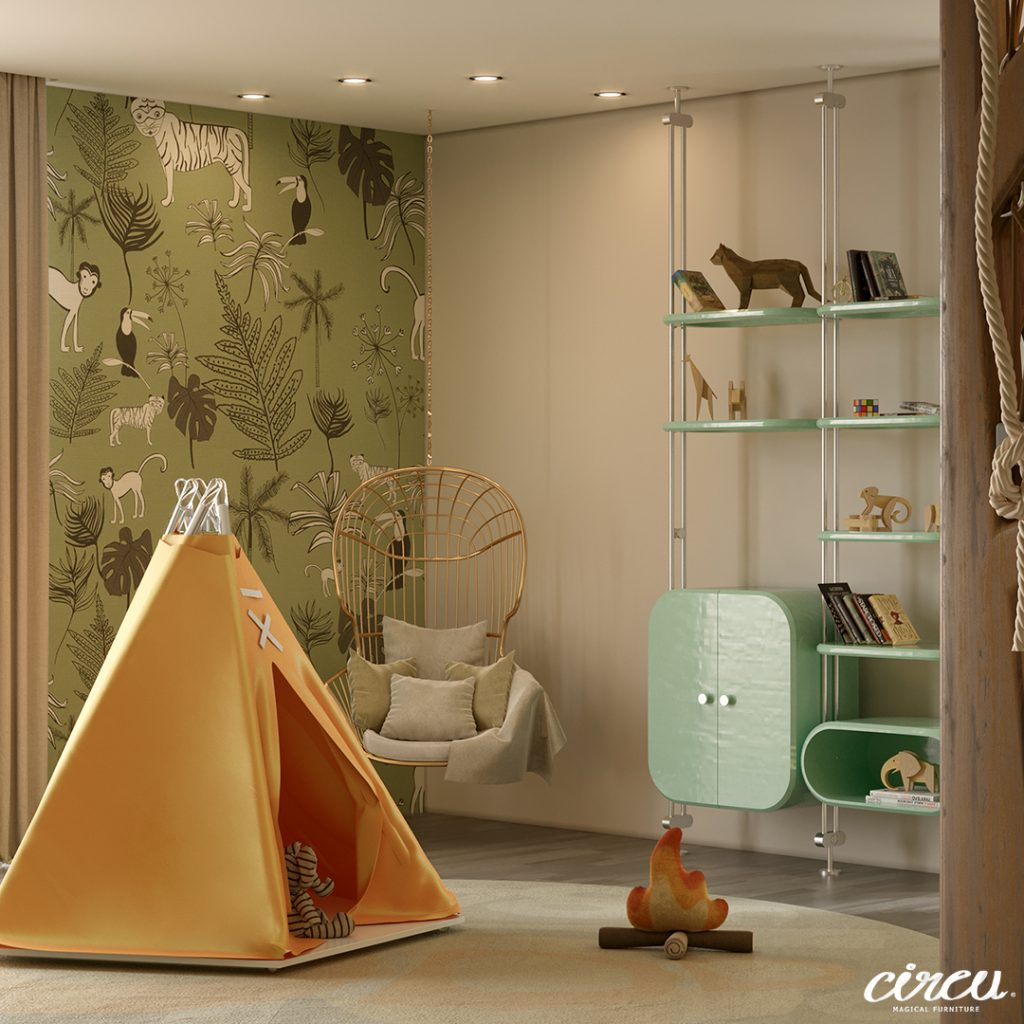 kids room Luxury Project Inspired by Nature: Jungle Themed Kids Room Luxury Project Inspired by Nature Jungle Themed Kids Room 8 scaled