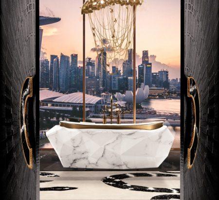 modern classic bathroom Modern Classic Bathroom Design Ideas 10 MV 3 modern chandelier 450x410
