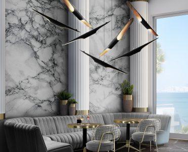 dining room and kitchen trends Interior Design Inspirations: Dining Room and Kitchen Trends 2 DL 5 Mid century modern suspension lights 371x300