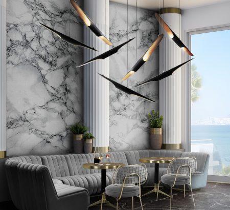 dining room and kitchen trends Interior Design Inspirations: Dining Room and Kitchen Trends 2 DL 5 Mid century modern suspension lights 450x410