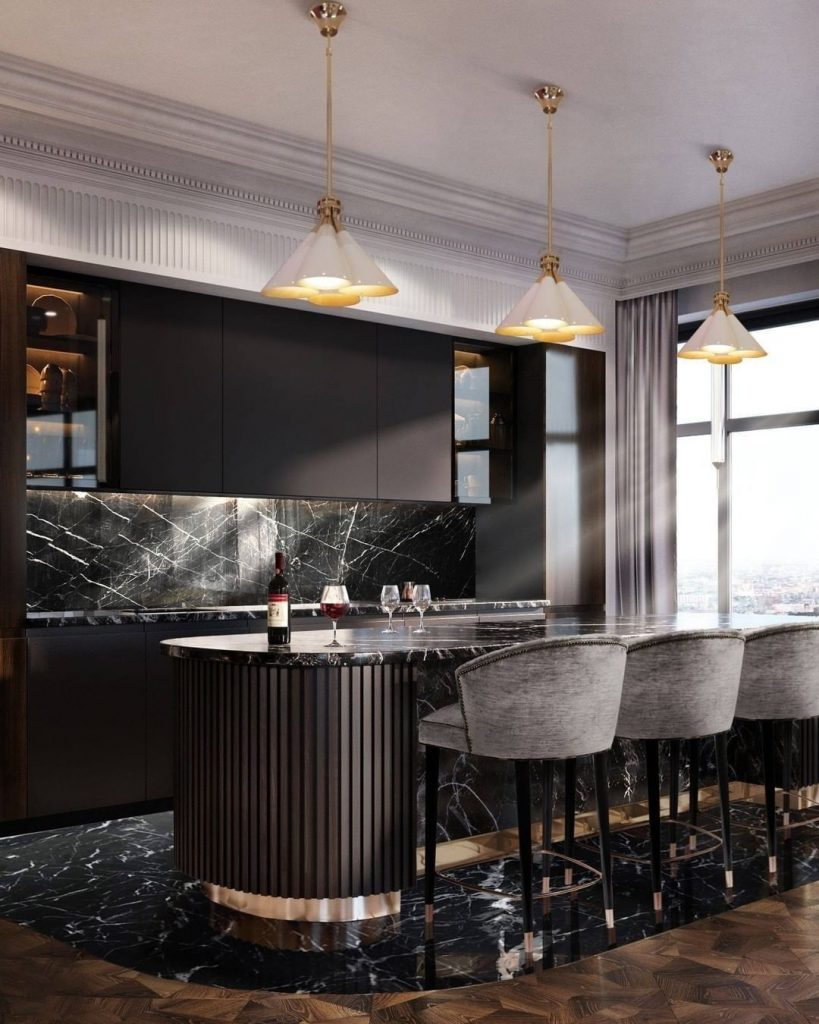 dining room and kitchen trends Interior Design Inspirations: Dining Room and Kitchen Trends 3 CovetHouse 2 upholstered counter stool scaled