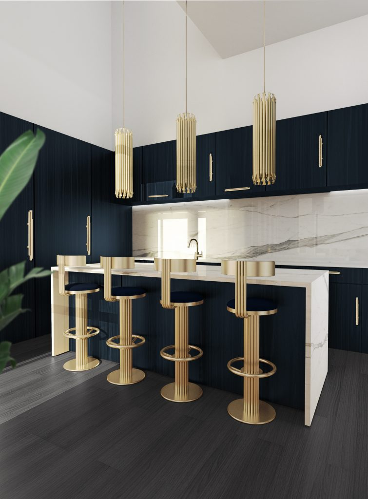 dining room and kitchen trends Interior Design Inspirations: Dining Room and Kitchen Trends 4 DL 2 golden bar chair scaled