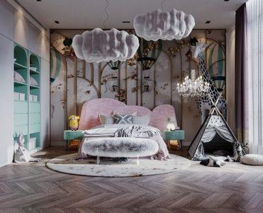 modern classic girls' room design Modern Classic Girls' Room Design LUXURY GIRLS ROOM IN A CLOUDY SKY BE A GOLDEN STAR 1 371x300