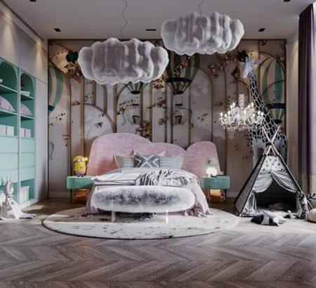 modern classic girls' room design Modern Classic Girls' Room Design LUXURY GIRLS ROOM IN A CLOUDY SKY BE A GOLDEN STAR 1 450x410
