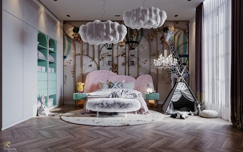 modern classic girls' room design Modern Classic Girls' Room Design LUXURY GIRLS ROOM IN A CLOUDY SKY BE A GOLDEN STAR 1