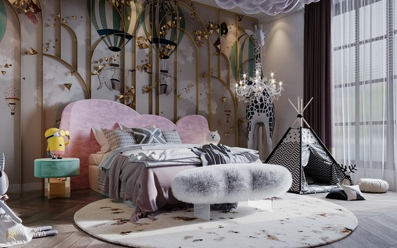 modern classic girls' room design Modern Classic Girls' Room Design LUXURY GIRLS ROOM IN A CLOUDY SKY BE A GOLDEN STAR 2