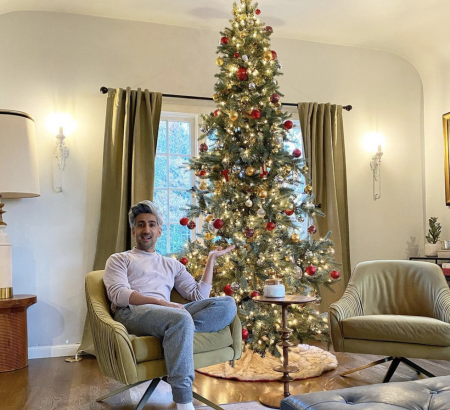 2020 Celebrity Christmas Trees that You'll Love 2020 celebrity christmas trees 2020 Celebrity Christmas Trees that You'll Love tan france christmas tree 1604518771 450x410