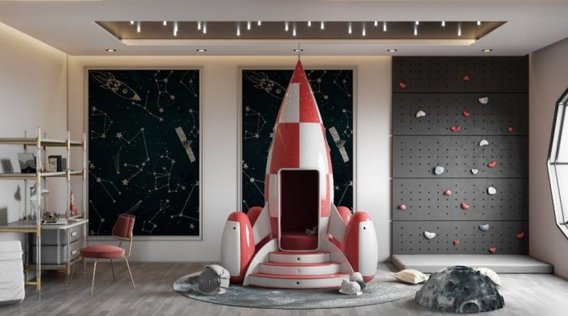 Kids Space Themed Room Ideas Celebrity Homes